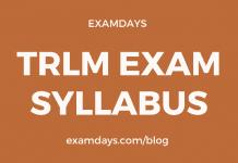 trlm exam syllabus