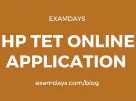 hp tet online application
