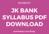jk bank syllabus