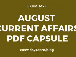 august current affairs pdf