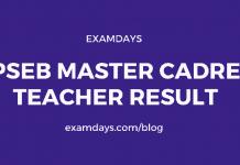 PSEB Master Cadre Teacher Result