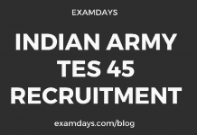 indian army tes 45 recruitment