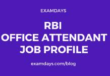 rbi office attendant work profile