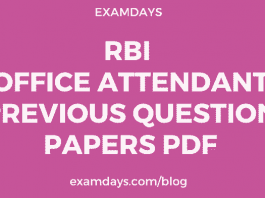 rbi office attendant previous question papers pdf