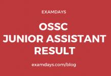 ossc junior assistant result