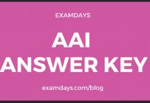 aai answer key