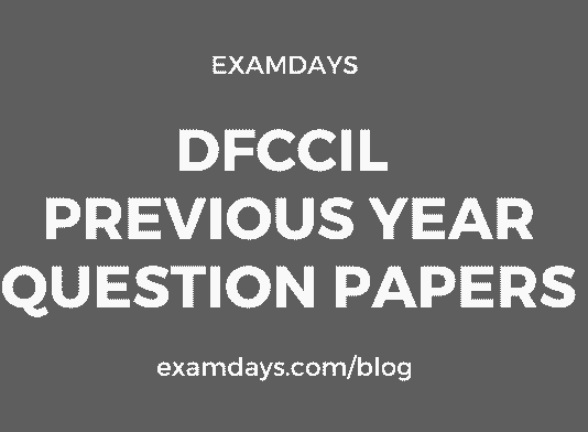 dfccil previous year question papers