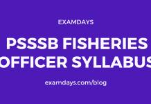 psssb fisheries officer syllabus