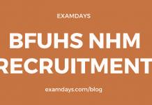 bfuhs nhm recruitment