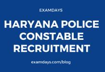 haryana police constable notification