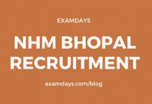 nhm bhopal recruitment