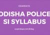 odisha police si syllabus