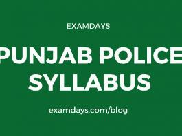 punjab police syllabus