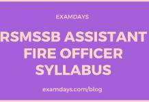 rsmssb assistant fire officer syllabus