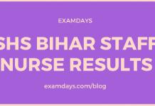 shs bihar staff nurse result