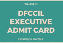 dfccil executive admit card