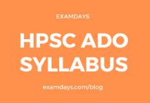 hpsc ado syllabus