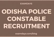odisha police constable recruitment
