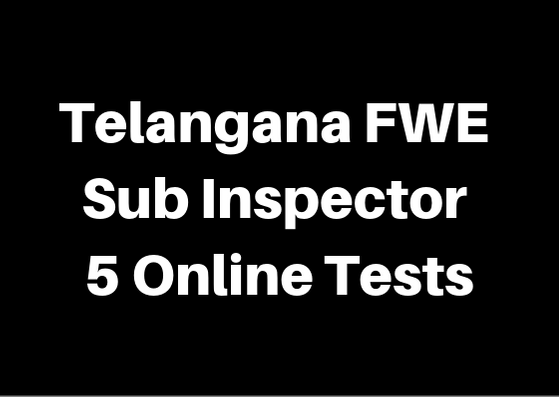 Telangana FWE Constable 2 Online Tests
