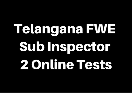 Telangana FWE TM SI 2 Online Tests