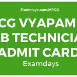 cg vyapam lab technician admit card