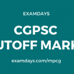 cgpsc cut off marks