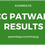 cg patwari result