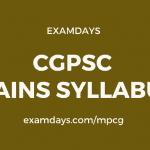 cgpsc mains syllabus