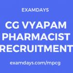 CG Vyapam Pharmacist