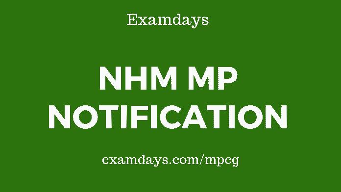 mp nhm notification