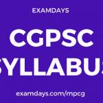 cgpsc syllabus