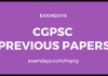 cgpsc previous question papers