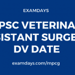 cgpsc veterinary assistant surgeon dv date