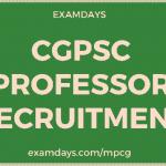 cgpsc professor recruitment
