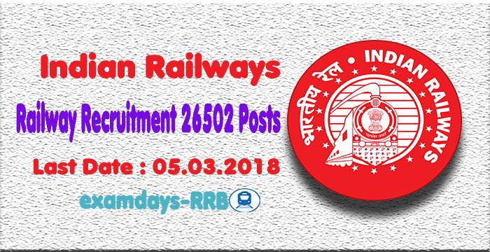 Railway Recruitment 2018 Syllabus and Exam Pattern