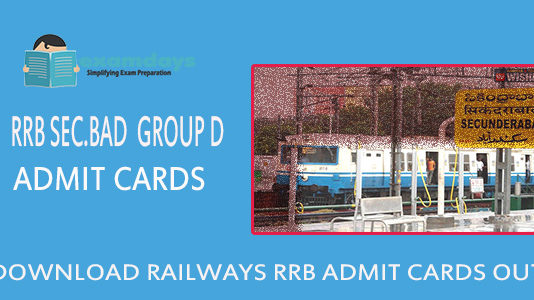 RRB Group D Admit Card 2018 download