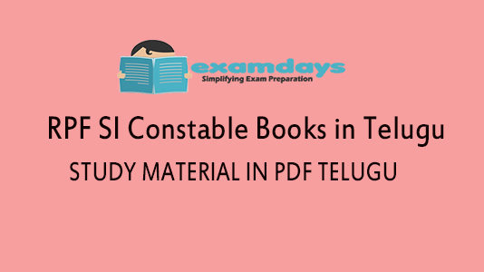 RRB RPF SI Constable Books Study Material in Telugu - Download PDF