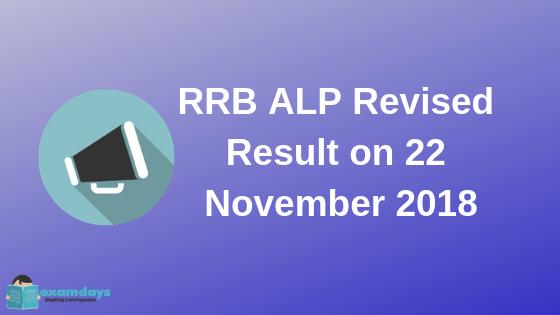 RRB ALP Revised Result on 22 November 2018