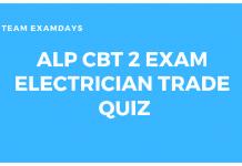 ALP CBT 2 Exam Electrician Trade Quiz