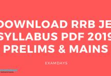 Download RRB JE Syllabus PDF 2019