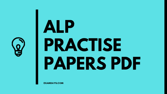 RRB ALP Practice Papers PDF