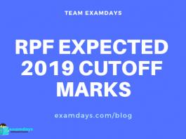 rpf expected cutoff marks