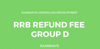 rrb group d refund