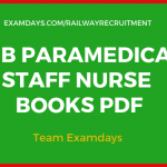 rrb staff nurse books pdf