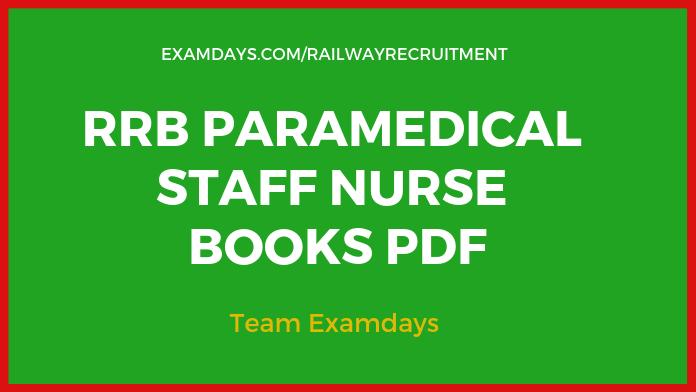 rrb staff nurse books pdf