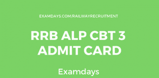 rrb alp cbt 3 admit card