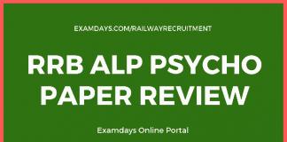 rrb alp psycho paper review