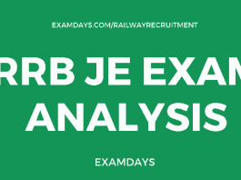 rrb je exam analysis