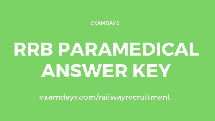 rrb paramedical answer key