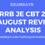 rrb je 31 aug review